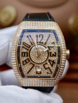 Franck Muller V41 Rose Gold Full Diamonds Option New 100% Fullbox 2018
