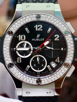 Hublot BigBang 41mm Steel Diamonds Bezel New 100% Fullbox 2018