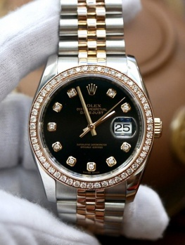 Rolex Datejust 116231 Black Diamond New 98%