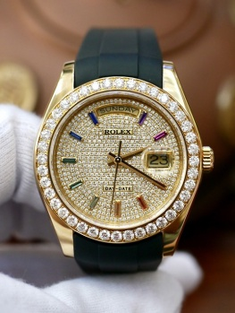 Rolex Day-Date 18948 Full Diamonds Option New 98%