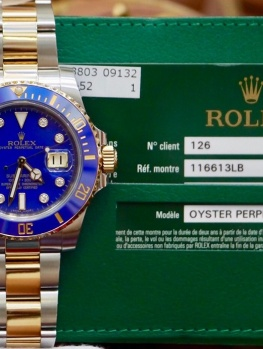 Rolex Submariner 116613LB Blue Dial New 98% Fullset 2014