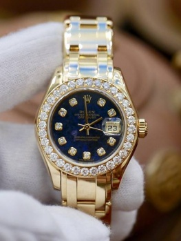 Rolex Lady Pearlmaster 80298 Thạch Anh Tím New 98%