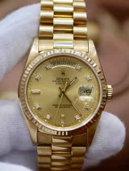 Rolex Day-Date 18238 Tia Vàng New 98%