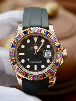 Rolex Yacht Master 116655 Rainbow Bezel Option New 99% Fullset 2016