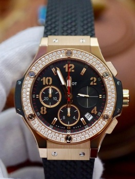 Hublot BigBang Rose Gold Diamond Bezel New 100% Fullset 2019