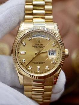 Rolex Day-Date 118238 Tia Vàng New 98% 2017