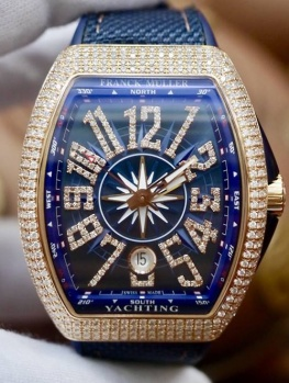 Franck Muller V41 Yachting Rose Gold Diamonds Option New 100% Fullbox 2018
