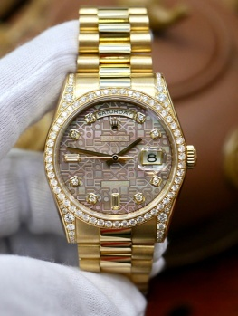 Rolex Day-Date 118388 Dark Mother Of Pearl Jubilee New 98% Fullset