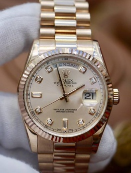 Rolex Day-Date 118235 Tia Hồng New 98%