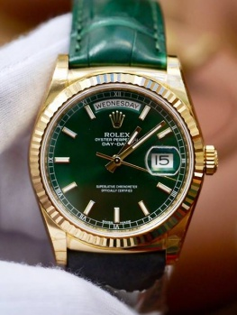 Rolex Day-Date 118138 Mặt Xanh Lá New 100% Fullbox 2018
