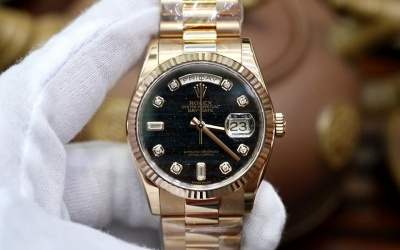 Rolex Day-Date 118235 Ferrite Diamond New 100% Fullset 2019