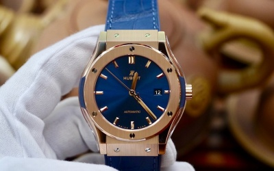 Hublot Classic Fusion Blue King Gold New 100% Fullset 2019