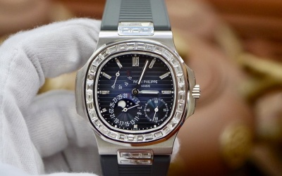 Patek Philippe Nautilus 5712G Baguette Option 5724G New 98%