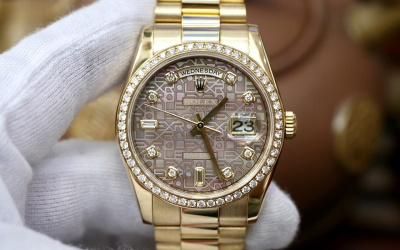 Rolex Day-Date 118348 Dark Mother Of Pearl Jubilee New 98%