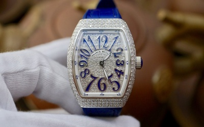 Franck Muller Vanguard V32 QZ Full Diamonds Option New 100% Fullset 2019