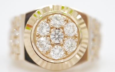 NHẪN ROLEX 18K SOLID GOLD ROSE DIAMOND