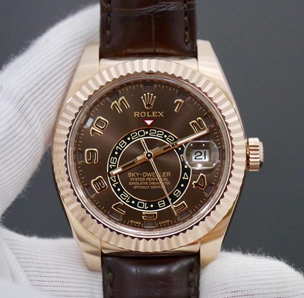 Rolex Sky-Dweller 326135 Mặt Chocolate New 99% Fullbox 2016