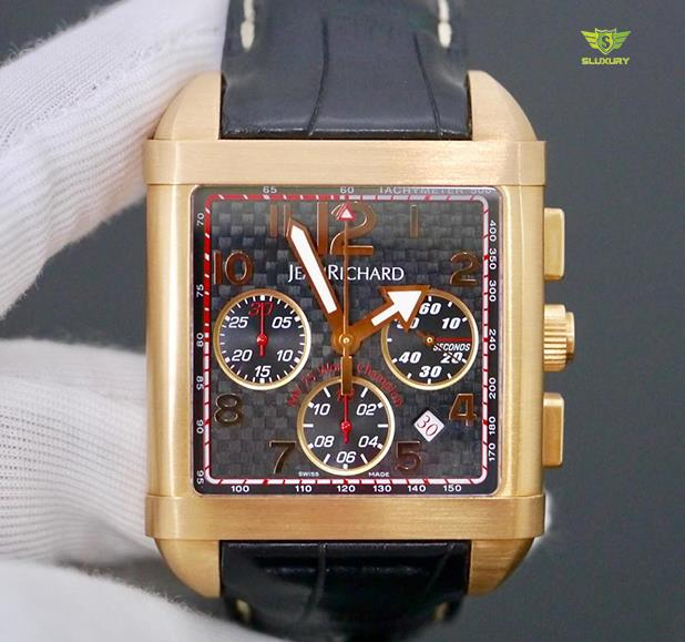 JeanRichard Paramount Chronograph 18K Gold New 98%