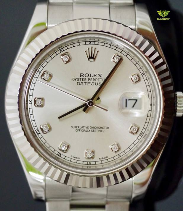 Rolex Datejust II 116334 Tia Bạc New 98%