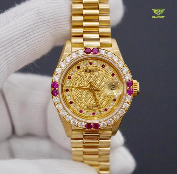 Rolex Lady Datejust 18K Gold 69178 New 97%