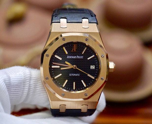 Audemars Piguet Royal Oak Date 18k Rose Gold New 98%