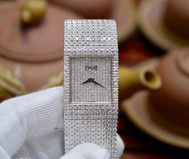 Piaget 9154 18K White Gold Full Diamond Option New 98%