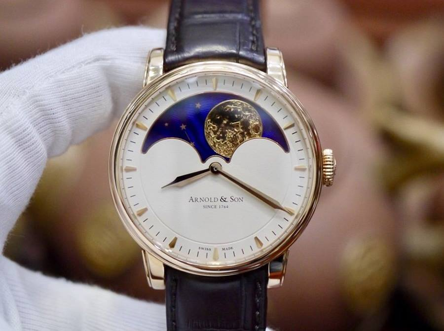 Arnold & Son HM Perpetual Moon Rose Gold New 99% Fullbox