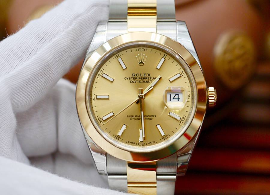 Rolex Datejust 41mm 126303 Vàng Champagne New 100% Fullbox 2018