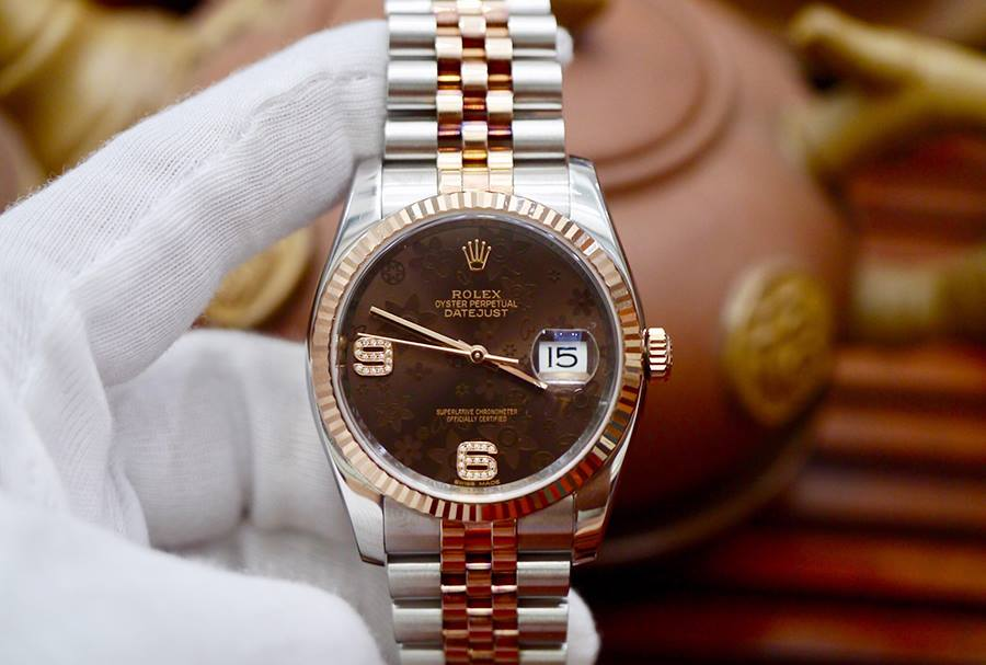Rolex Datejust 116231 Hoa Nâu New 98% 2016