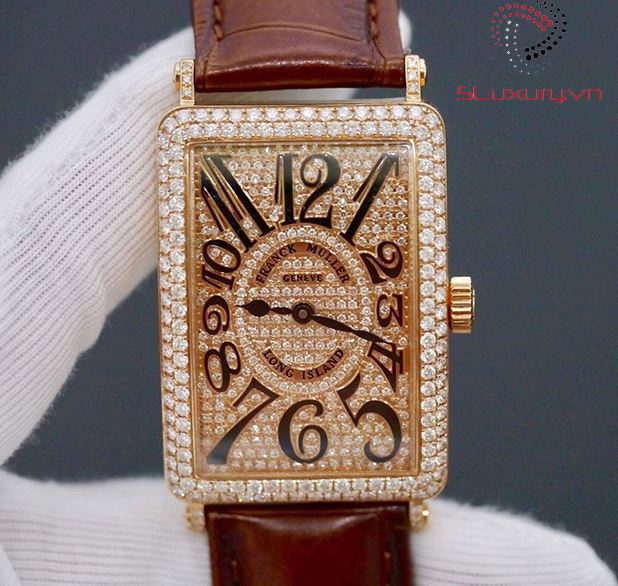 Franck Muller Long Island 1000SC Full Diamond Option New 98%
