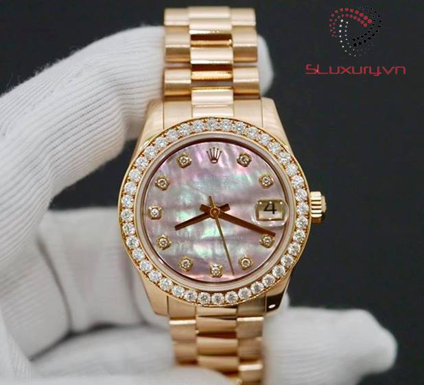 Rolex Lady Datejust 178275 18K Rose Gold New 98%