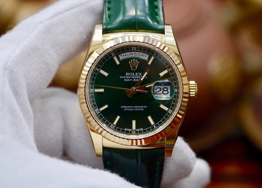 Rolex Day-Date 118138 Mặt Xanh...